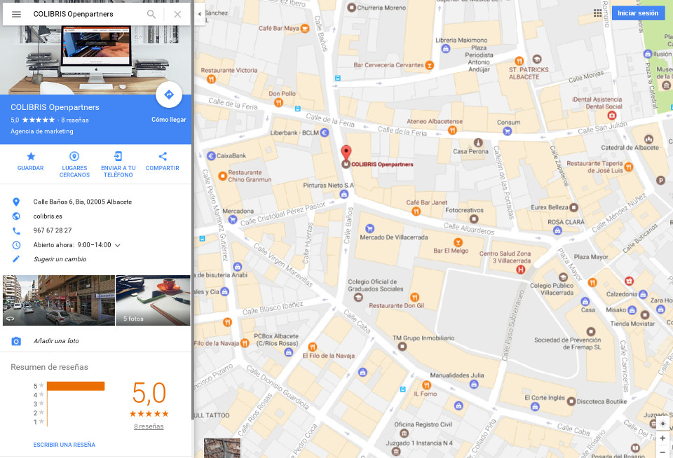 SEO Local para pymes - COLIBRIS Openpartners
