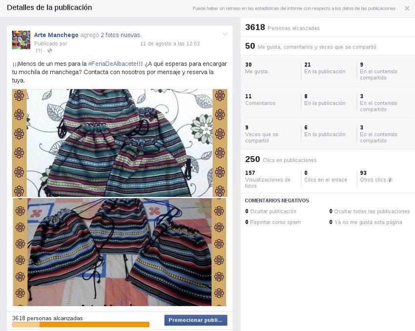 Segmentación Arte Manchego en Facebook