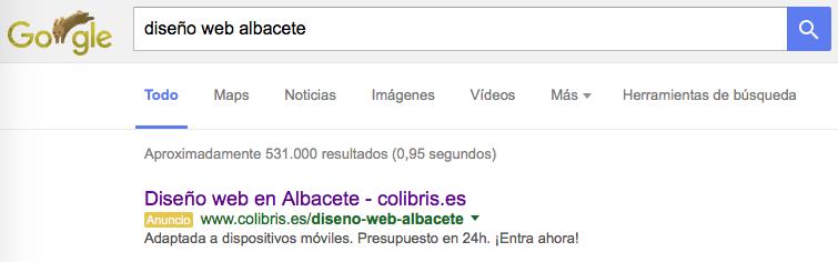 Google Adwords Albacete