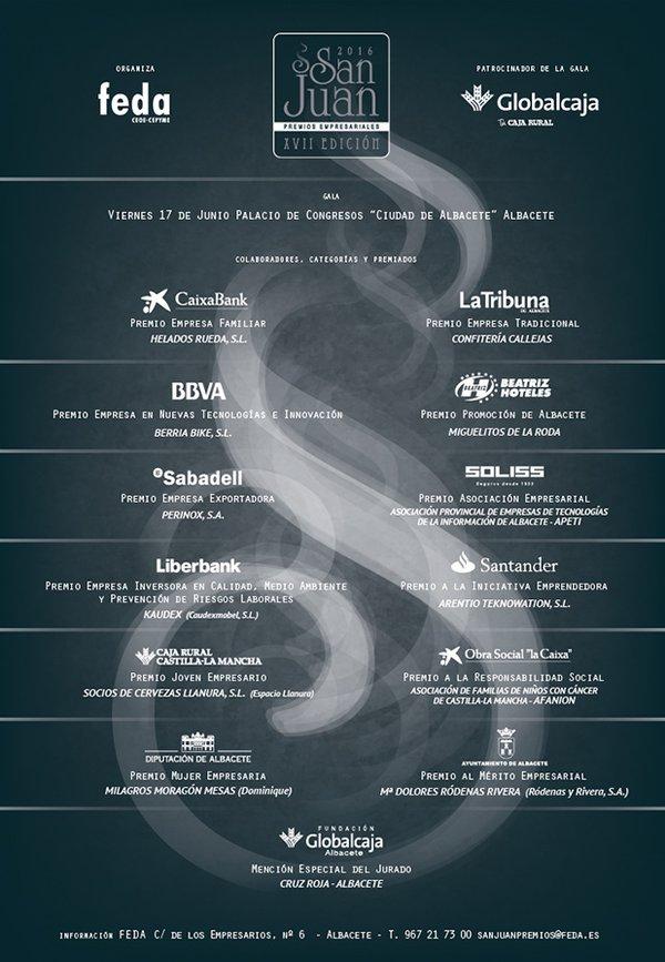Premios Empresariales San Juan 2016 de FEDA Albacete