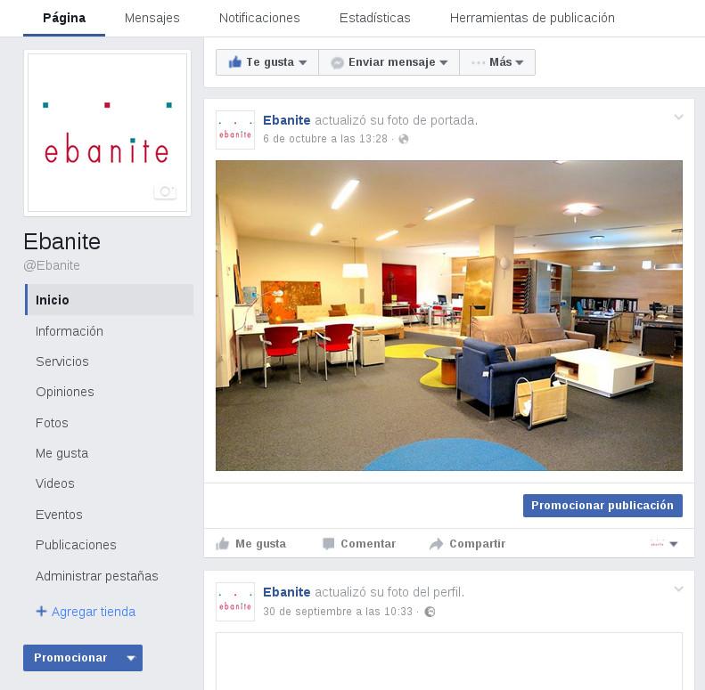 Crear tienda Ebanite